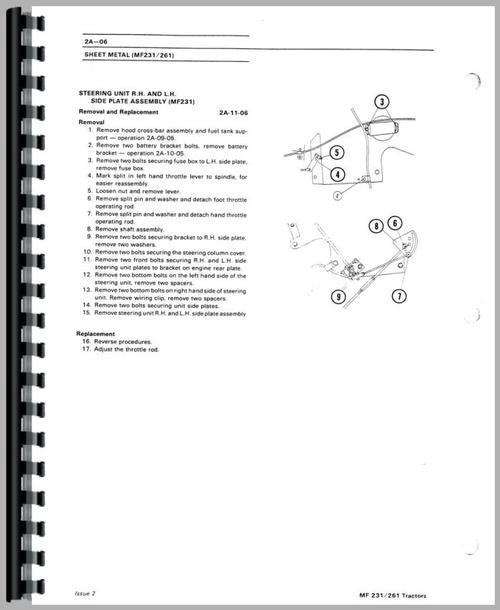 Massey Ferguson 261 Tractor Service Manual