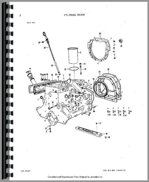 Massey Ferguson 298 Tractor Parts Manual