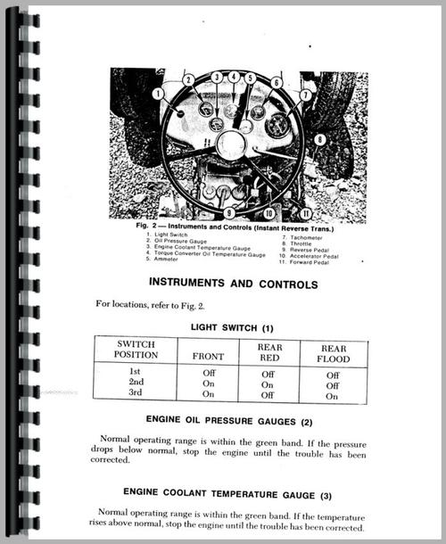 Massey Ferguson 40 Tractor Loader Backhoe Operators Manual