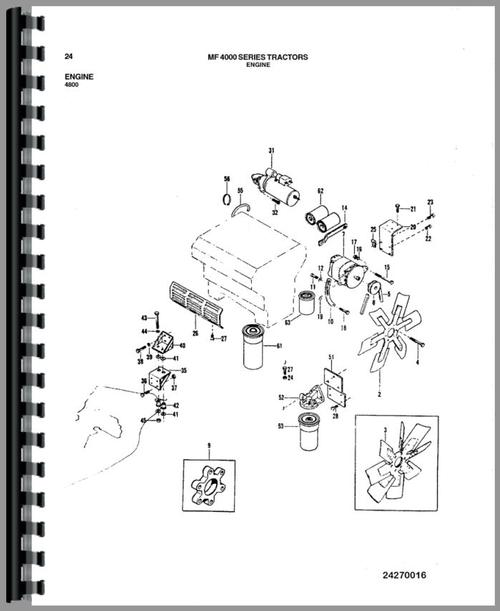 Massey Ferguson 4800 Tractor Parts Manual