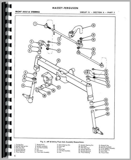 Massey Ferguson 50 Tractor Service Manual