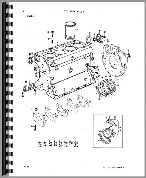Massey Ferguson 50A Industrial Tractor Parts Manual