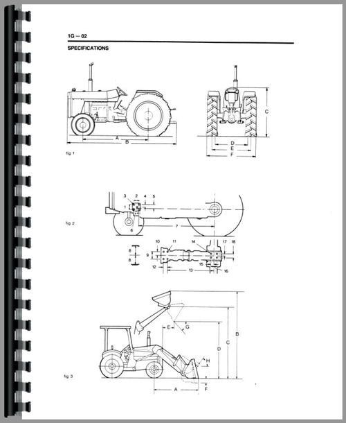 Massey Ferguson 50E Industrial Tractor Service Manual