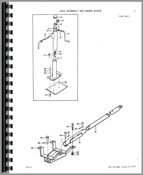 Massey Ferguson 124 Baler Parts Manual