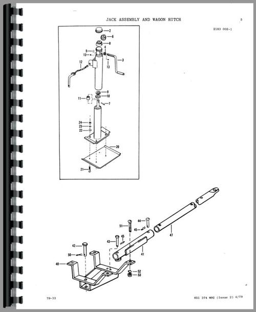 Massey Ferguson 128 Baler Parts Manual