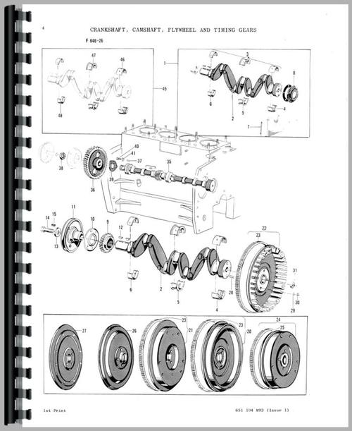 Massey Ferguson 204 Tractor Parts Manual