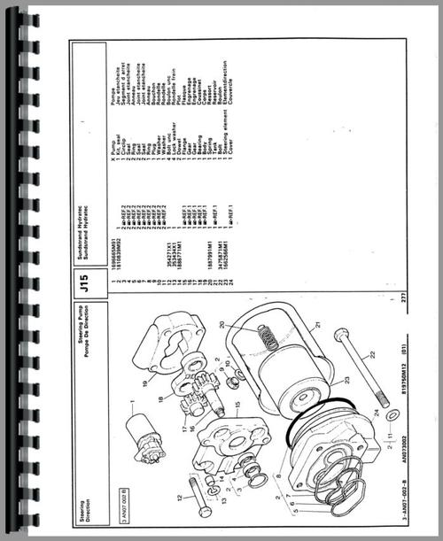 Massey Ferguson 375 Tractor Parts Manual