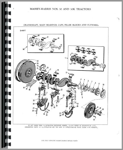 Massey Harris 30K Tractor Parts Manual