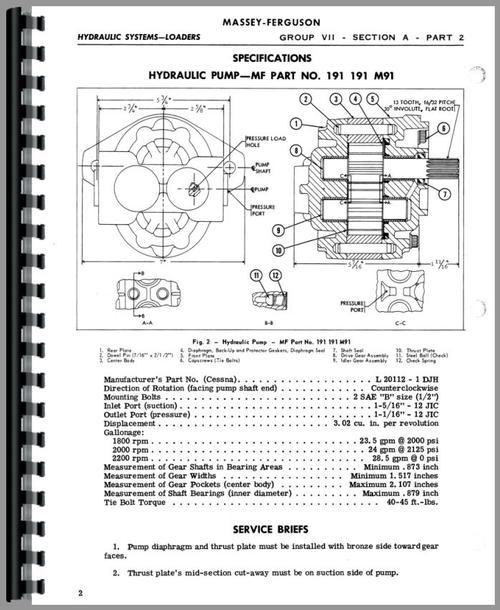 Massey Harris 50 Loader Attachment Service Manual