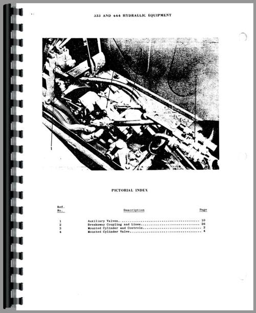 Massey Harris 333 Hydraulic Equipment Parts Manual
