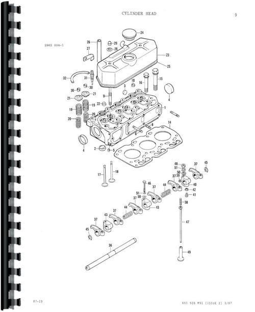 Massey Ferguson 1020 Tractor Parts Manual