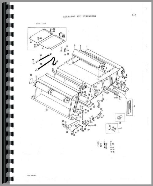 Massey Ferguson 860 Combine Parts Manual