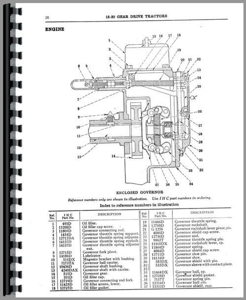 Mccormick Deering 15-30 Tractor Parts Manual