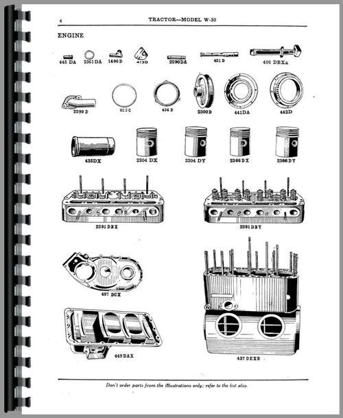 Mccormick Deering W30 Tractor Parts Manual
