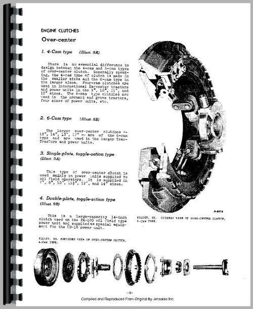 Mccormick Deering W6 Tractor Clutch Service Manual