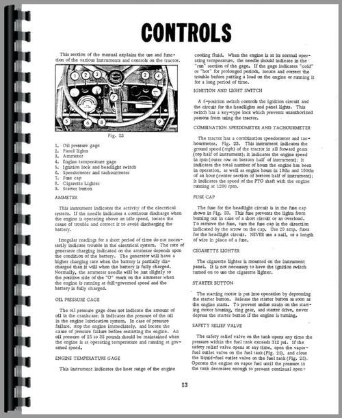 Minneapolis Moline G706 Tractor Operators Manual