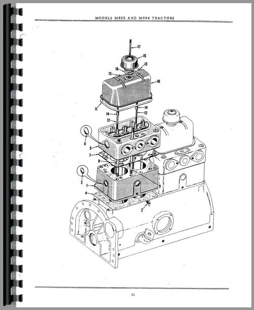 Minneapolis Moline M604 Tractor Parts Manual