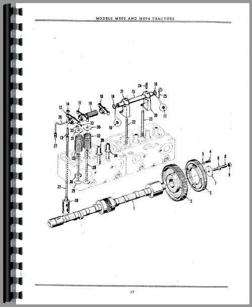 Minneapolis Moline M604 Tractor Parts Manual