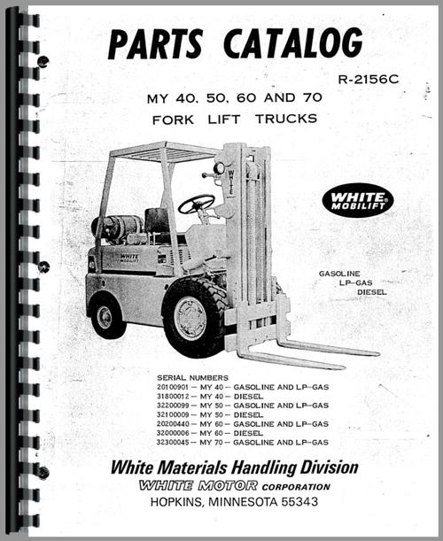 Minneapolis Moline MY50 Forklift Parts Manual