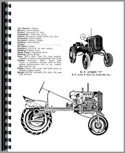 Minneapolis Moline V Plow Operators & Parts Manual