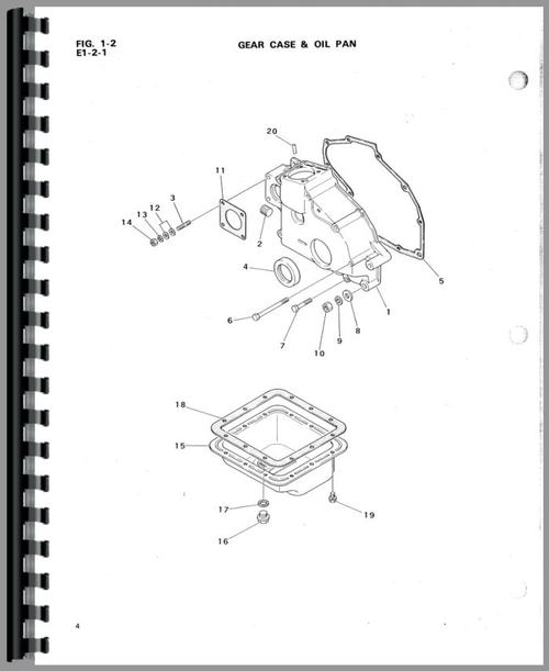 Mitsubishi D1300 Tractor Parts Manual