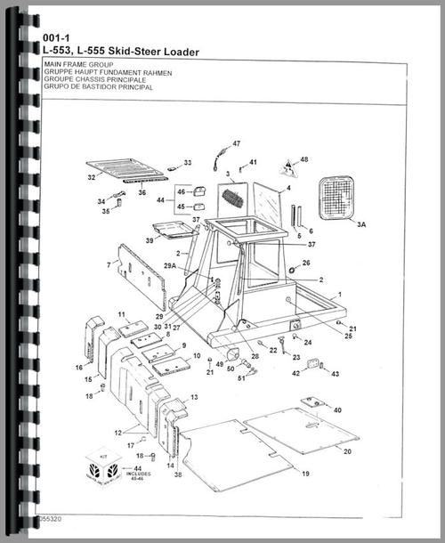 New Holland L555 Skid Steer Parts Manual