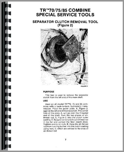 New Holland TR70 Combine Service Manual