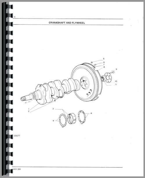 Oliver 1255 Tractor Parts Manual