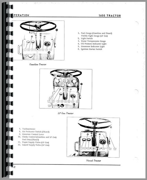 Oliver 1600 Tractor Operators Manual