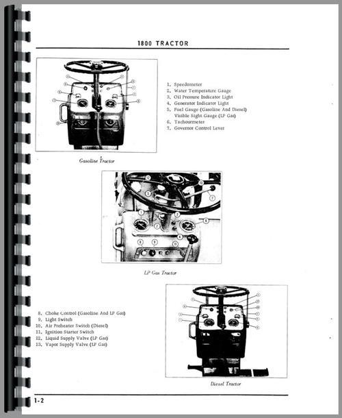 Oliver 1800C Tractor Operators Manual
