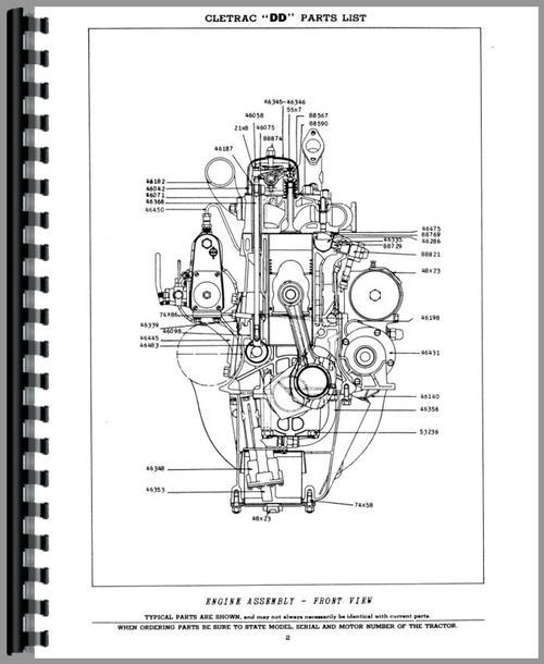 Oliver 35D Cletrac Crawler Parts Manual