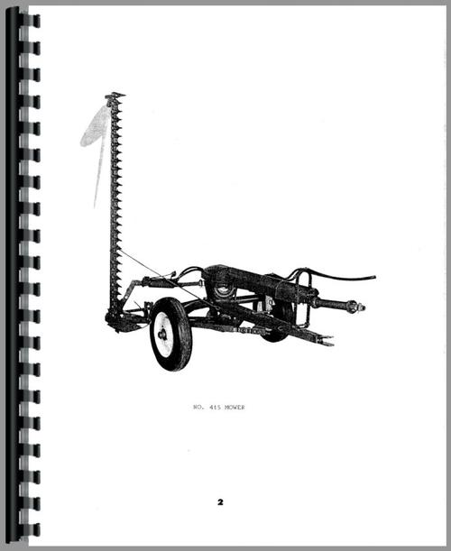 Oliver 415 Mower Operators Manual