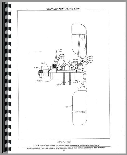 Oliver BD Cletrac Crawler Parts Manual