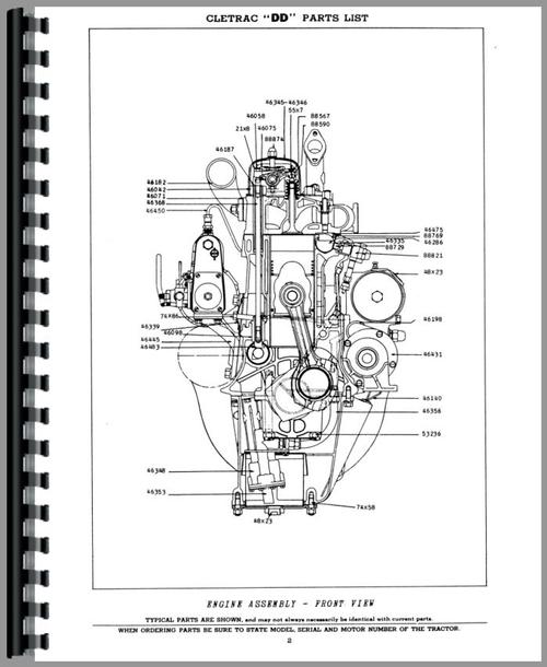 Oliver DD Cletrac Crawler Parts Manual