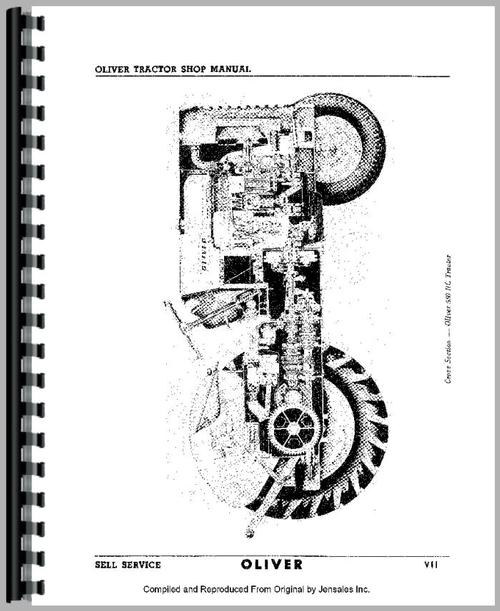 Oliver Super 66 Tractor Service Manual