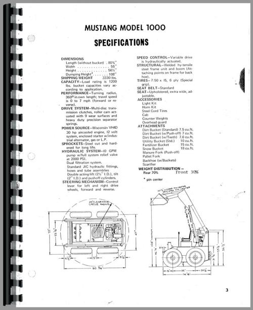 Owatonna 1000 Skid Steer Loader Operators Manual