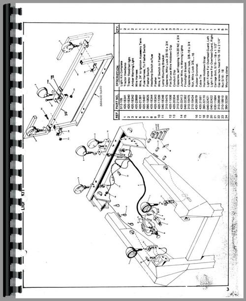 Owatonna 1200 Skid Steer Loader Parts Manual