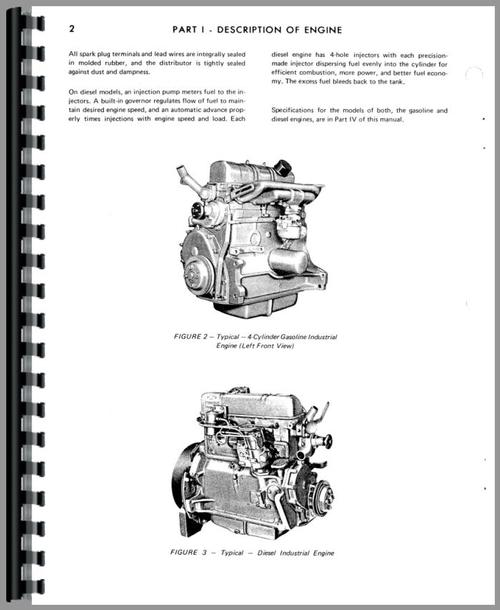 Owatonna 81 Windrower Ford Engine Service Manual