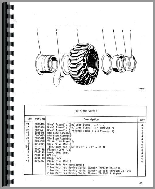 Trojan 2500 Wheel Loader Parts Manual