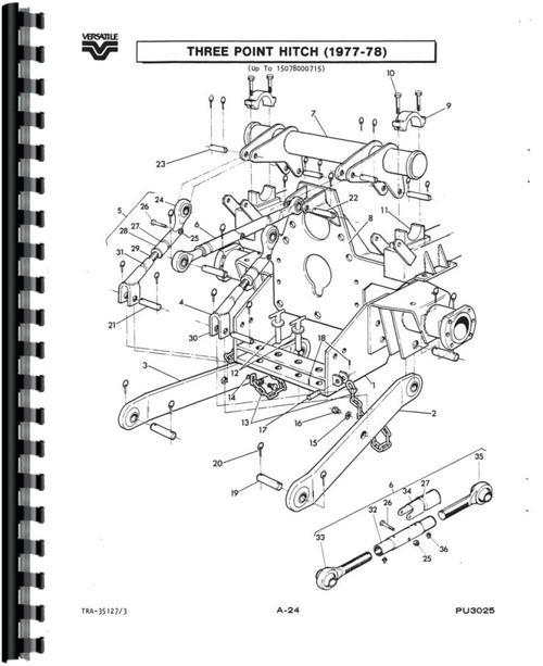 Versatile 150 Tractor Parts Manual