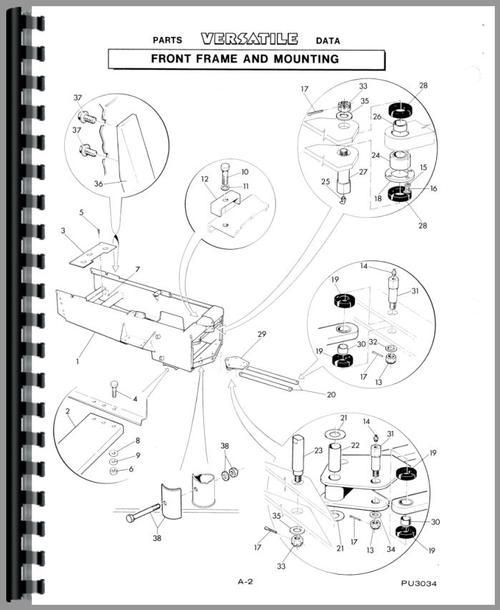 Versatile 500 Tractor Parts Manual