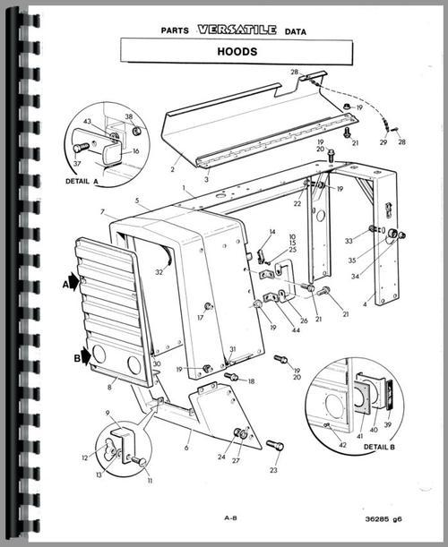 Versatile 850 Tractor Parts Manual