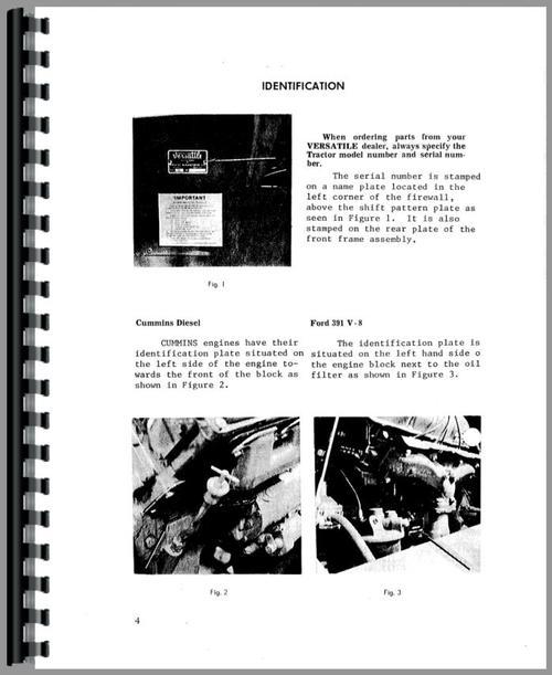 Versatile G125 Tractor Operators Manual