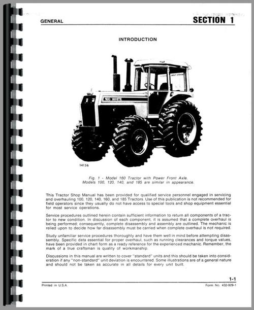 White 160 Tractor Service Manual