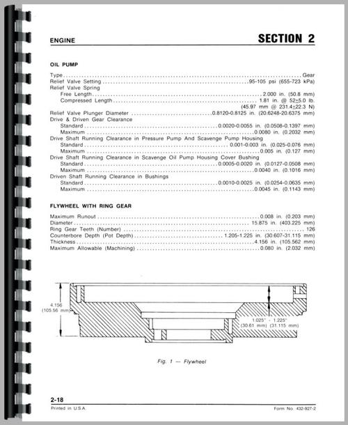 White 2-135 Tractor Service Manual