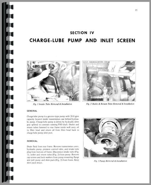 White 2-155 Hydraulics and 3 Point Service Manual