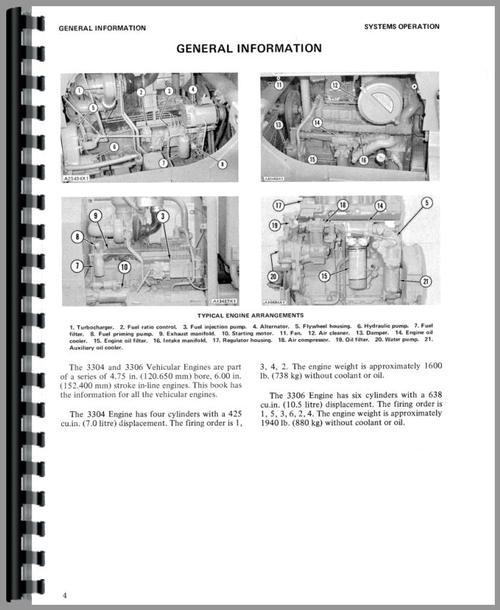 White 4-270 Caterpillar 3306 Engine Service Manual