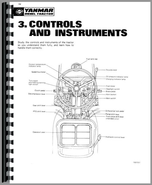 Yanmar YM169D Tractor Operators Manual