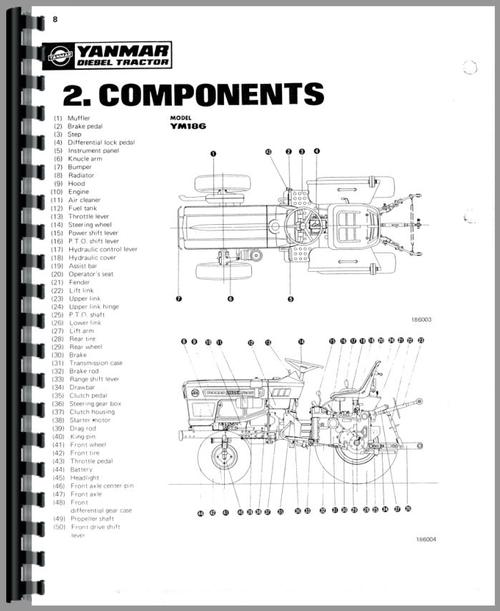 Yanmar YM186 Tractor Service Manual