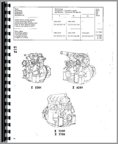 Zetor 7211 Tractor Parts Manual
